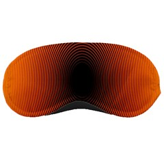 Abstract Circle Hole Black Orange Line Sleeping Masks by Alisyart