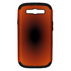 Abstract Circle Hole Black Orange Line Samsung Galaxy S Iii Hardshell Case (pc+silicone) by Alisyart