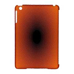 Abstract Circle Hole Black Orange Line Apple Ipad Mini Hardshell Case (compatible With Smart Cover) by Alisyart