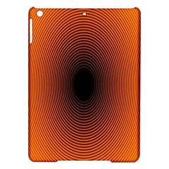 Abstract Circle Hole Black Orange Line Ipad Air Hardshell Cases by Alisyart