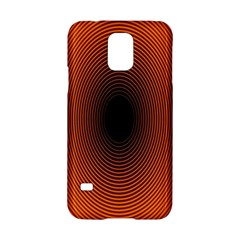 Abstract Circle Hole Black Orange Line Samsung Galaxy S5 Hardshell Case  by Alisyart