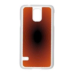 Abstract Circle Hole Black Orange Line Samsung Galaxy S5 Case (white) by Alisyart