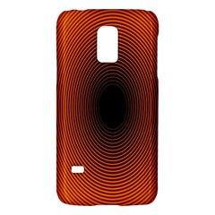 Abstract Circle Hole Black Orange Line Galaxy S5 Mini by Alisyart