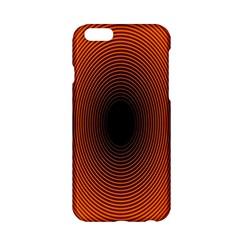 Abstract Circle Hole Black Orange Line Apple Iphone 6/6s Hardshell Case by Alisyart