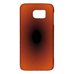 Abstract Circle Hole Black Orange Line Galaxy S6 by Alisyart