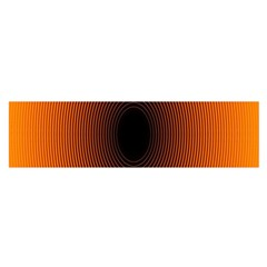 Abstract Circle Hole Black Orange Line Satin Scarf (oblong) by Alisyart