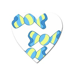 Candy Yellow Blue Heart Magnet by Alisyart