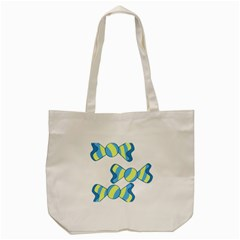 Candy Yellow Blue Tote Bag (cream) by Alisyart