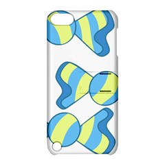 Candy Yellow Blue Apple Ipod Touch 5 Hardshell Case With Stand by Alisyart