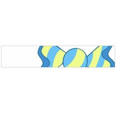 Candy Yellow Blue Flano Scarf (large) by Alisyart