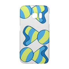 Candy Yellow Blue Galaxy S6 Edge by Alisyart