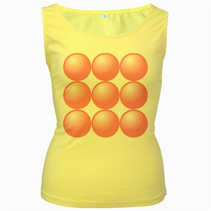 Circle Pink Women s Yellow Tank Top