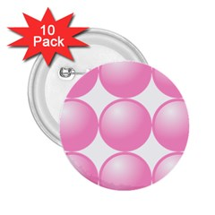 Circle Pink 2 25  Buttons (10 Pack)  by Alisyart