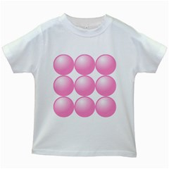 Circle Pink Kids White T Shirts by Alisyart