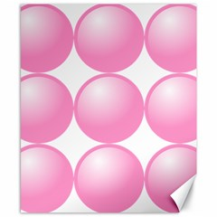 Circle Pink Canvas 8  X 10  by Alisyart