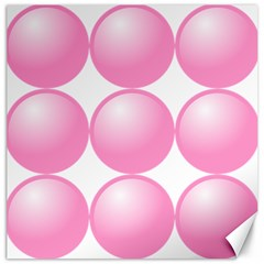 Circle Pink Canvas 12  X 12   by Alisyart