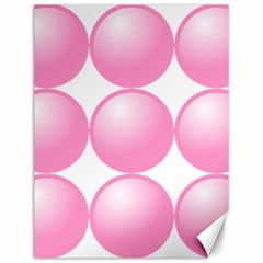 Circle Pink Canvas 12  X 16   by Alisyart