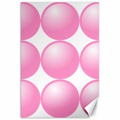 Circle Pink Canvas 20  X 30   by Alisyart