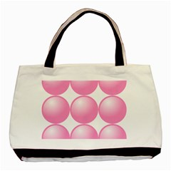 Circle Pink Basic Tote Bag (two Sides) by Alisyart