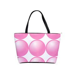 Circle Pink Shoulder Handbags by Alisyart