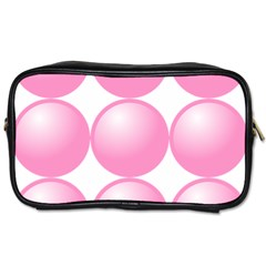 Circle Pink Toiletries Bags by Alisyart
