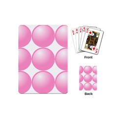 Circle Pink Playing Cards (mini)  by Alisyart