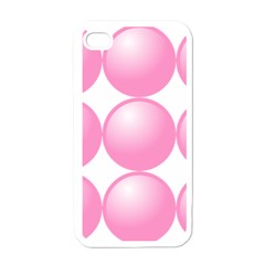 Circle Pink Apple Iphone 4 Case (white) by Alisyart
