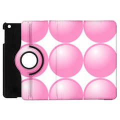Circle Pink Apple Ipad Mini Flip 360 Case by Alisyart