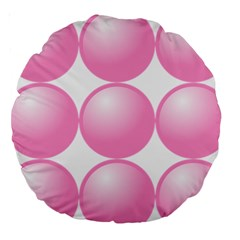 Circle Pink Large 18  Premium Round Cushions by Alisyart