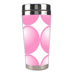 Circle Pink Stainless Steel Travel Tumblers by Alisyart