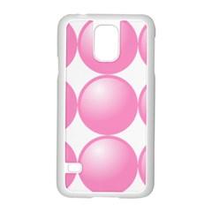 Circle Pink Samsung Galaxy S5 Case (white) by Alisyart
