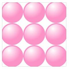 Circle Pink Large Satin Scarf (square) by Alisyart