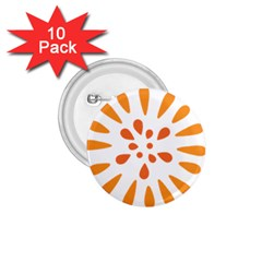 Circle Orange 1 75  Buttons (10 Pack) by Alisyart