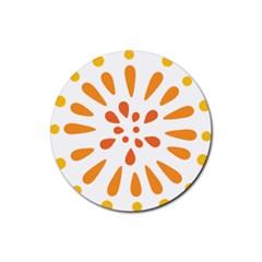 Circle Orange Rubber Coaster (round)  by Alisyart