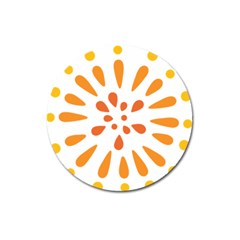 Circle Orange Magnet 3  (round) by Alisyart