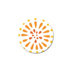 Circle Orange Golf Ball Marker (4 Pack) by Alisyart
