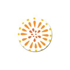 Circle Orange Golf Ball Marker (10 Pack) by Alisyart