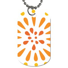Circle Orange Dog Tag (two Sides) by Alisyart
