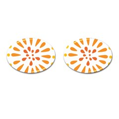 Circle Orange Cufflinks (oval) by Alisyart