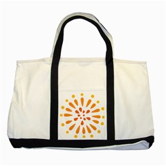 Circle Orange Two Tone Tote Bag by Alisyart