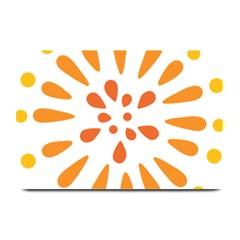 Circle Orange Plate Mats by Alisyart