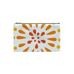 Circle Orange Cosmetic Bag (small)  by Alisyart