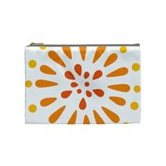 Circle Orange Cosmetic Bag (medium)  by Alisyart
