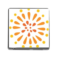 Circle Orange Memory Card Reader (square) by Alisyart