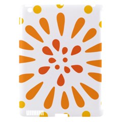 Circle Orange Apple Ipad 3/4 Hardshell Case (compatible With Smart Cover) by Alisyart