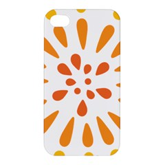 Circle Orange Apple Iphone 4/4s Premium Hardshell Case by Alisyart
