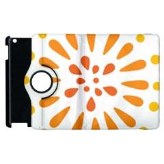 Circle Orange Apple Ipad 2 Flip 360 Case by Alisyart