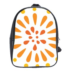 Circle Orange School Bags (xl)  by Alisyart