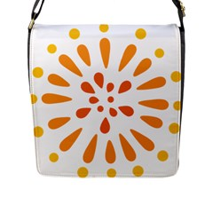 Circle Orange Flap Messenger Bag (l)  by Alisyart