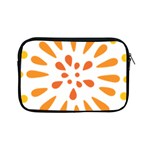 Circle Orange Apple iPad Mini Zipper Cases Front